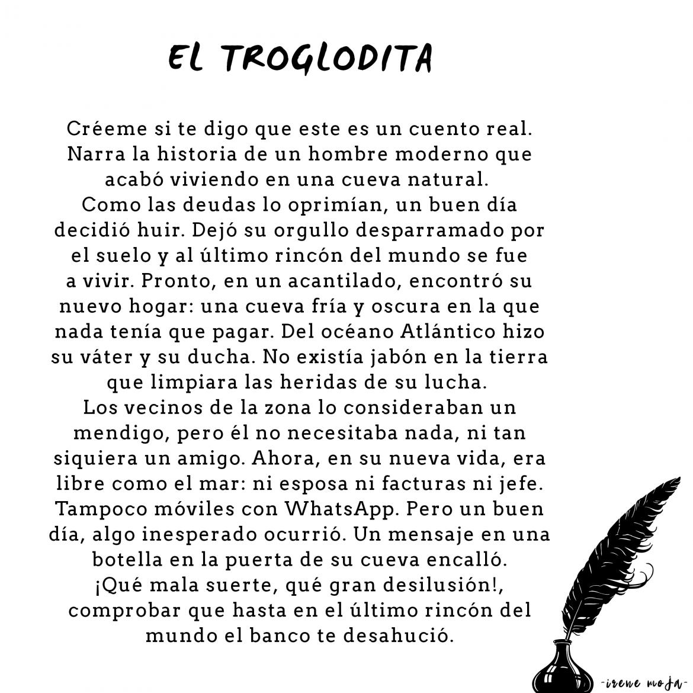 """El Troglodita (I Premio """"Concurso de microrrelatos Julio Verne"""". Diario El País, 2014)"""